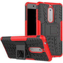 Чехол Heavy Duty Case Nokia 5 red